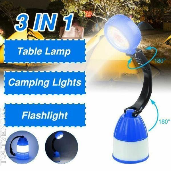 3 en 1 led lampe lanterne solaire cob veilleuse mobile power