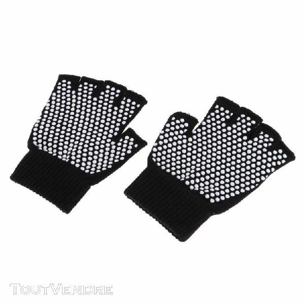 gants de yoga anti-dérapants protection de main gym