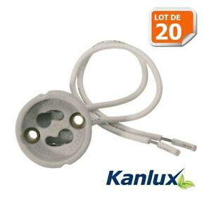 Base Douille Lampe Céramique Raccord Pour GU10 Standard DEL GU10 Lampe Titulaire de secteur
