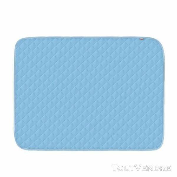 Té tapis de refroidissement glace pour chiens chats bleu