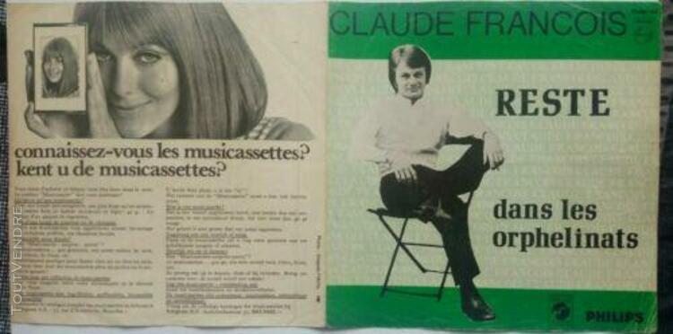 45t sp claude françois pressage belge original belgique ré