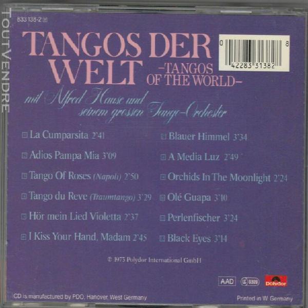 Alfred hause - tangos der welt - cd très bon état