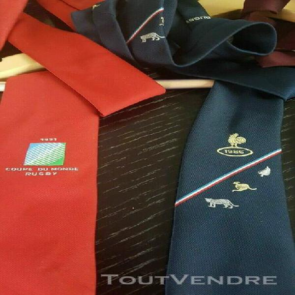 Cravate joueur match pro grand chelem ffr maillot rugby fran