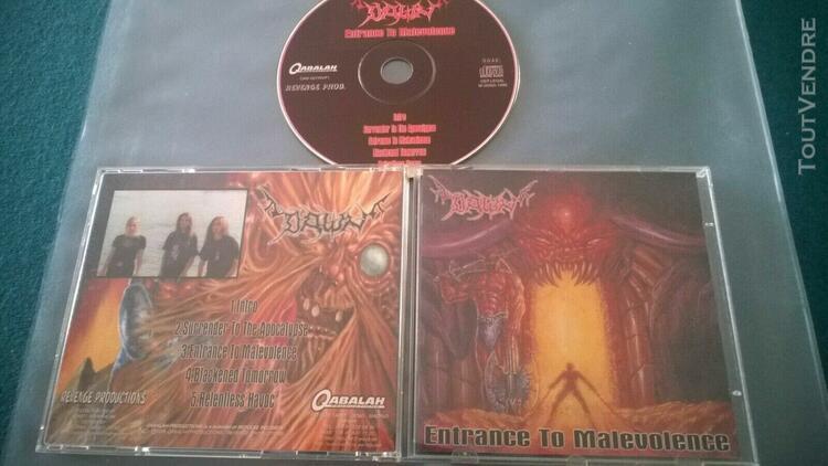 Dawn entrance to malevolence cd org 1st press 1998 qabalah p