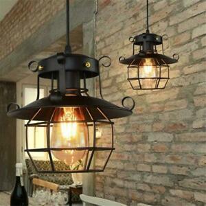 E27 rétro vintage industriel plafonnier lumière lustre