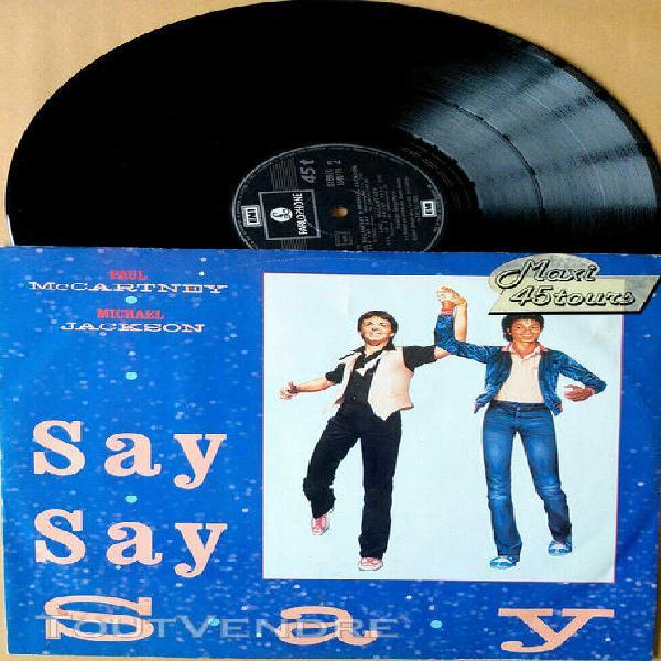 "Paul mc cartney & michael jackson - say say say (12"" / maxi"