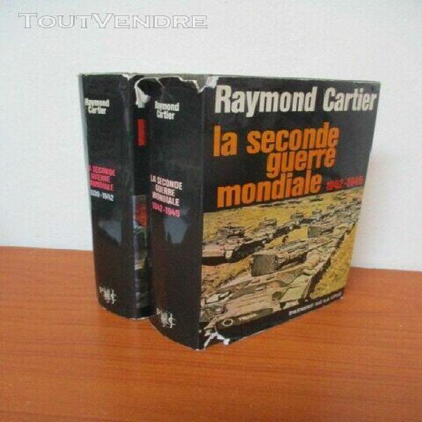 Raymond cartier la seconde guerre mondiale 2 volumes 1969 ph