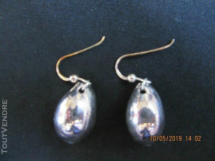 Boucles d/'oreilles en Argent 925 et Céramique Neuves