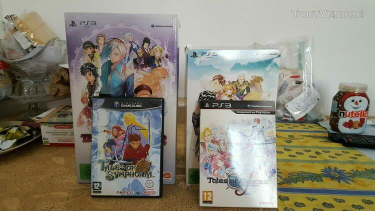 Collection jeux tales of ps3/game cube