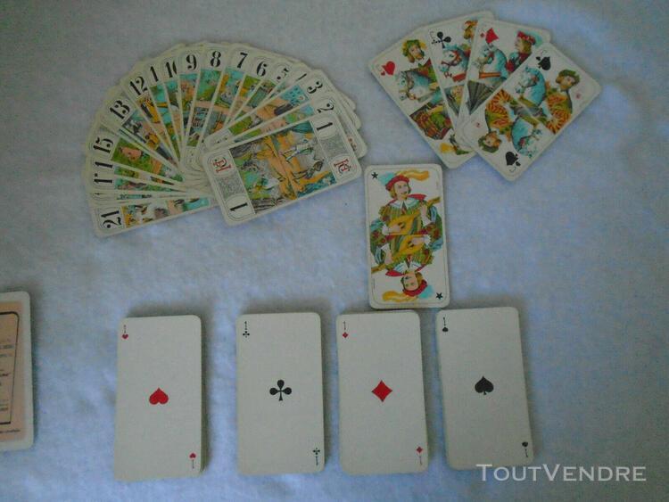 Jeu de tarot plastifié marque héron - complet 78 cartes