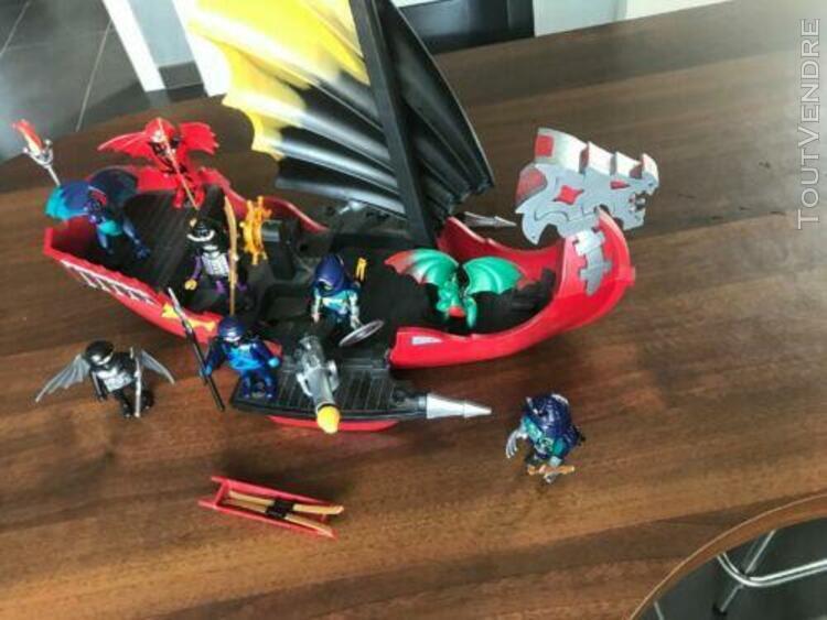 Playmobil bateau vaisseau d'attaque 5481 occasion tbe + 5