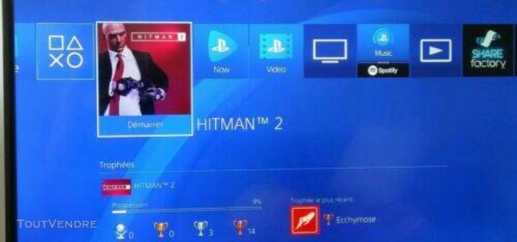 Playstation 4 + jeux, manette + garantie.