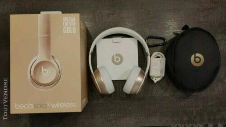Beats solo 2 wireless gold spécial édition b0534