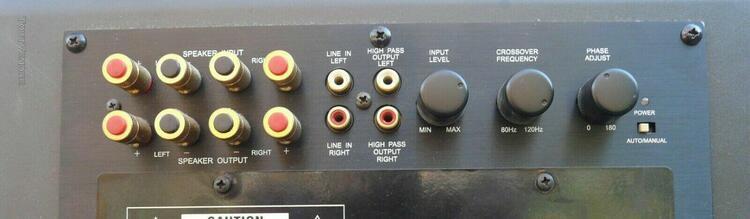 Subwoofer caisson de basse actif kef psw 2000 120 watts.
