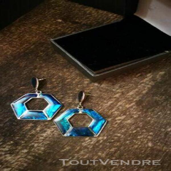 Boucles d/'oreilles puces en argent massif 925//1000 Triskel ciselé mode neuf CDE