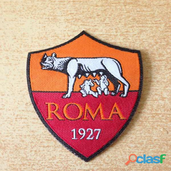 Écusson thermocollant football club as roma 1927 6x8 cm