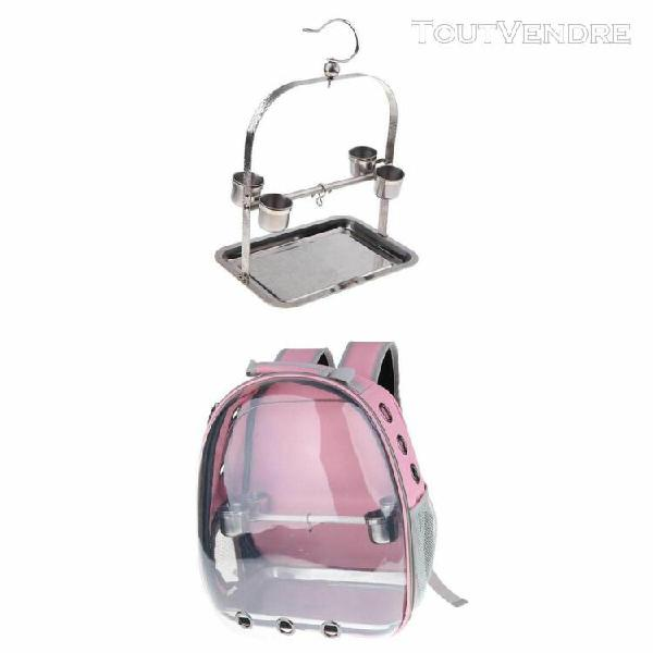 Set de sac transport petits animaux pliable avec perche en b