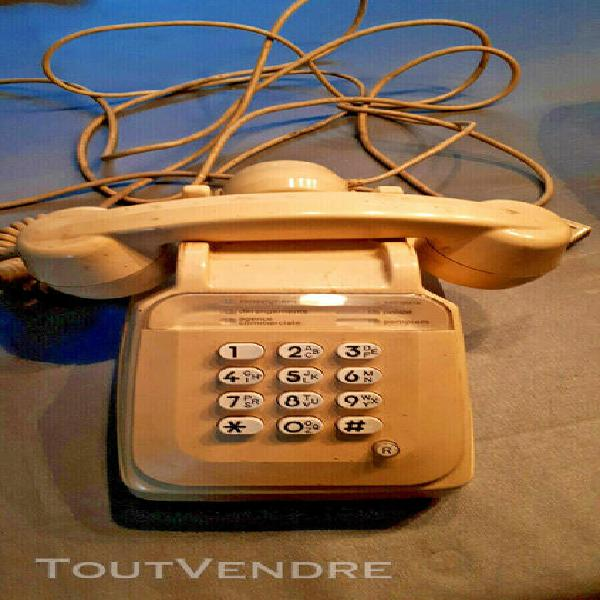Téléphone à touche socotel s63 ancien vintage