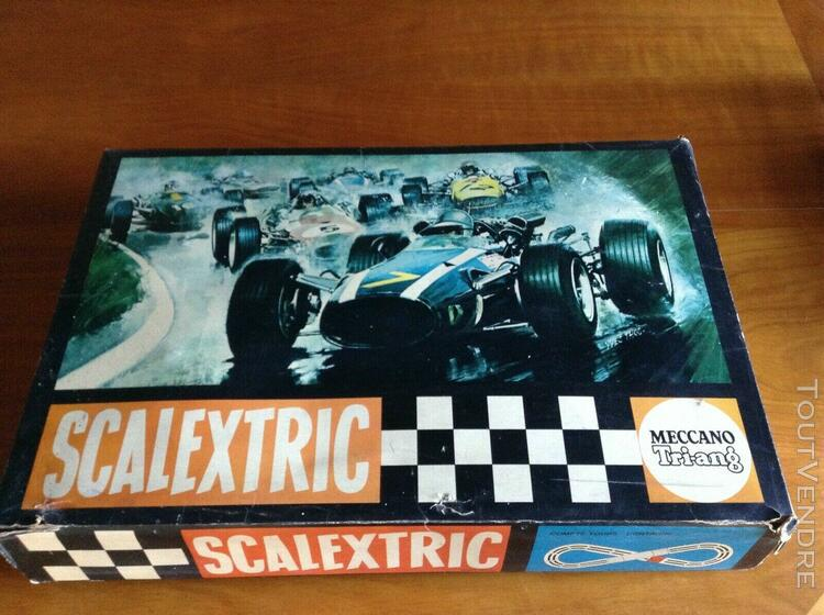 Circuit scalextric meccano/ tri-ang vintage années 60
