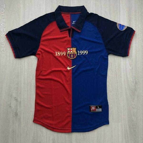 Fc barcelona barcelone 1999 centenaire centenary maillot shi