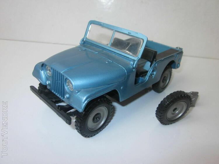 Jeep willys cj 5 6 mebetoys 1/25 rare bleue