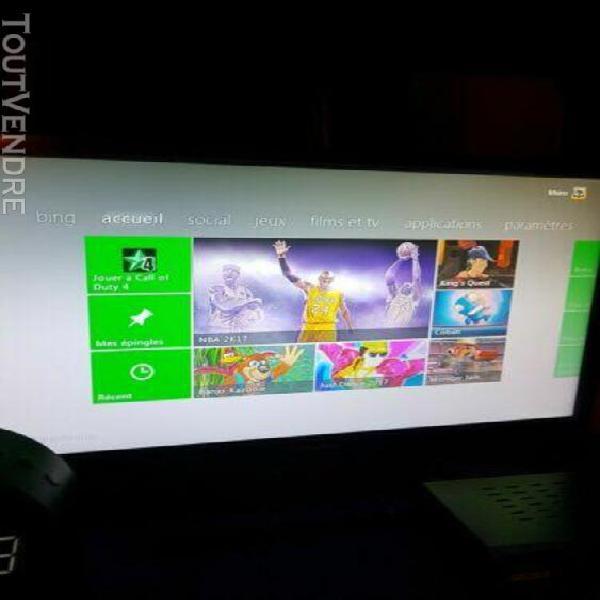 Xbox 360 slim 250 go + manette sans fil + 3 jeux + kinect