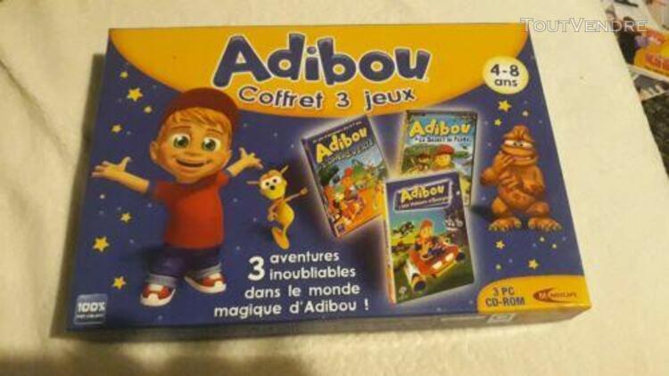 Adibou coffret 3 jeux pc