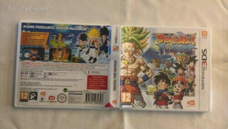 Boîte de jeux nintendo 3ds dragon ball fusion boîte vide