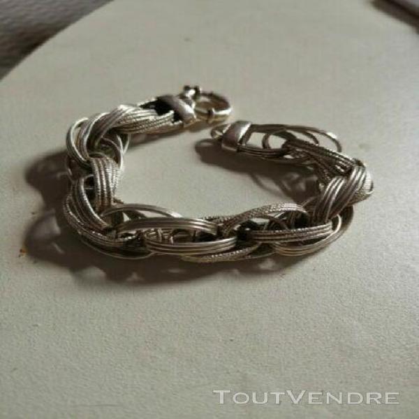 Bracelet argent ciselé 33 grammes,21cm,comme neuf