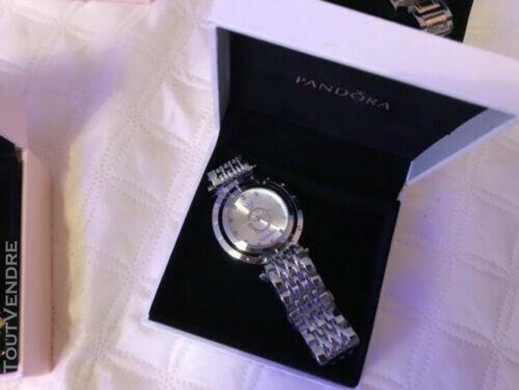 Montre pandora femme de luxe or wolf quartz silver boîte pr