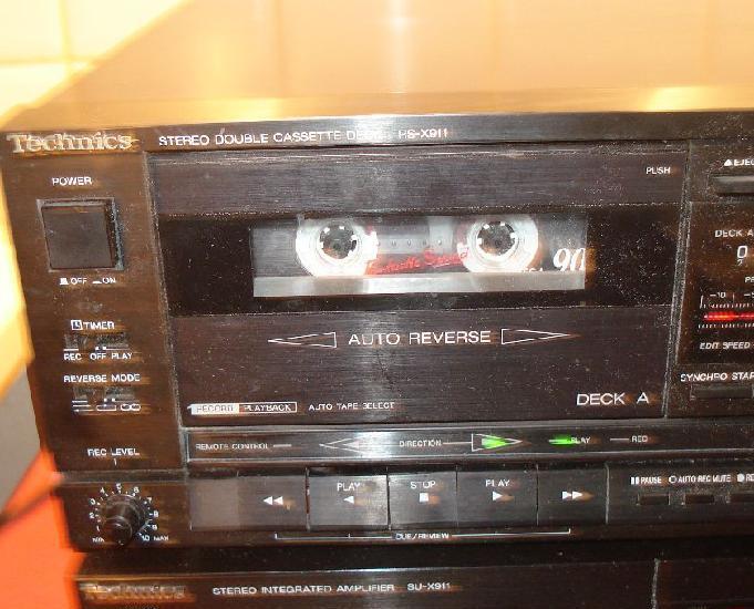 Technics rs-x911 lecteur double cassette stéréo