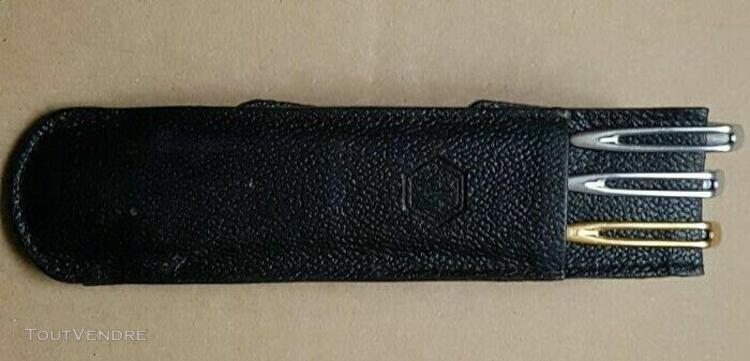 Waterman - stylo à plume waterman c/f argent - ensemble de