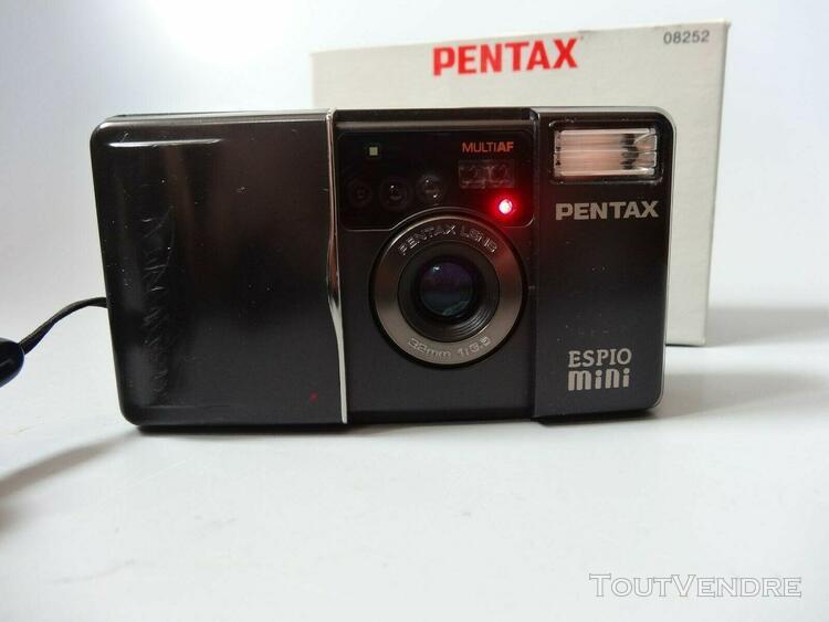 Appareil photo pentax espio mini, étui et boîte d'origine