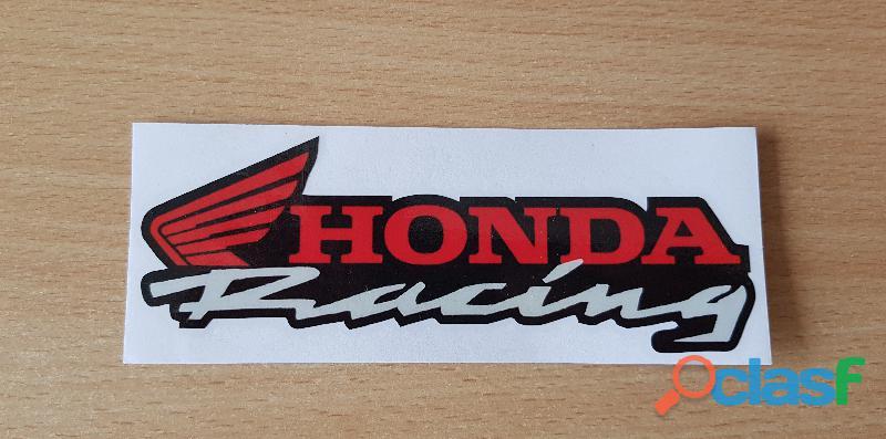 Autocollant sticker honda racing 15x5 cm