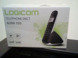 Logicom aura150 solo téléphone fixe sans fil noir