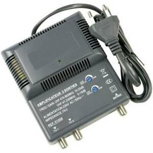 Amplificateur dintérieur 2 sorties uhf de 10 à 25 db et