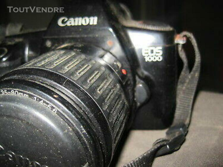 Appareil photo canon eos 1000 +zoom de l'appareil + zoom pho