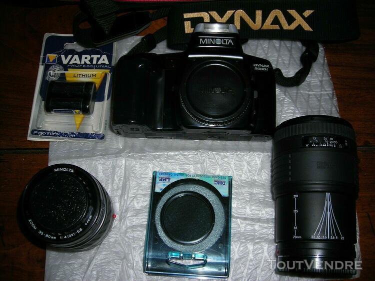 Appareil photo reflex minolta dynax 5000i avec objectif