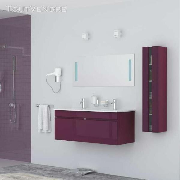 alban ensemble salle de bain double vasque avec miroir l 120