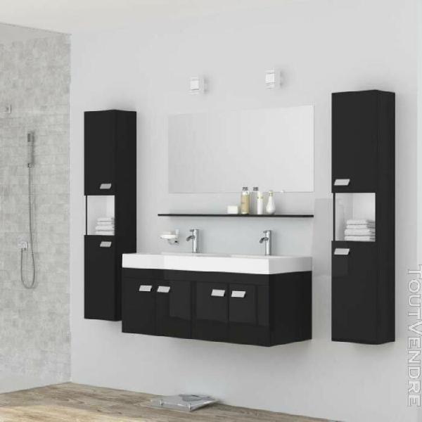 Alpos ensemble salle de bain double vasque avec miroir l 120