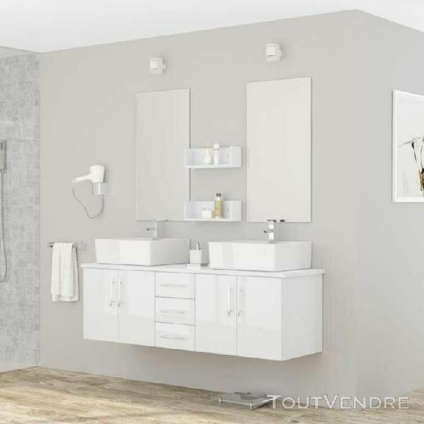 Diva ensemble salle de bain double vasque avec miroir l 150