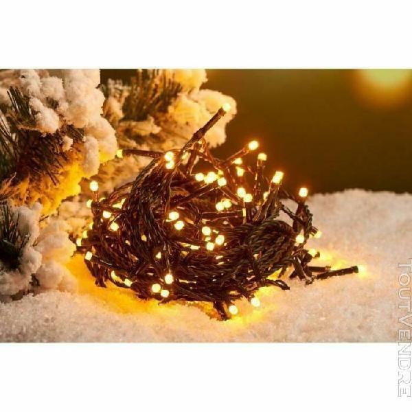 Guirlande de noel solaire - 50 led - blanc chaud - 5m - aucu