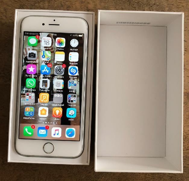 iphone 6 argent 64 gb - silver -très bon état