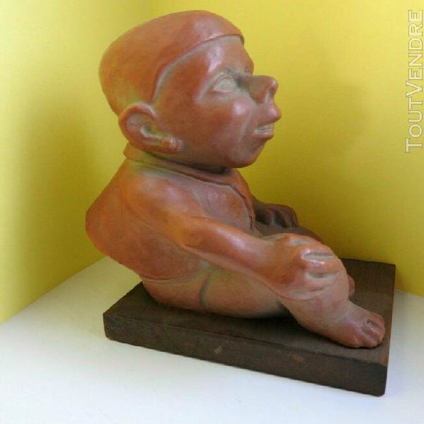 Statuette nain cyphotique grosse tête massiot philips