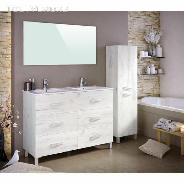 Stella ensemble salle de bain double vasque avec miroir l 12