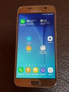 Téléphone portable samsung s6 gold 32go