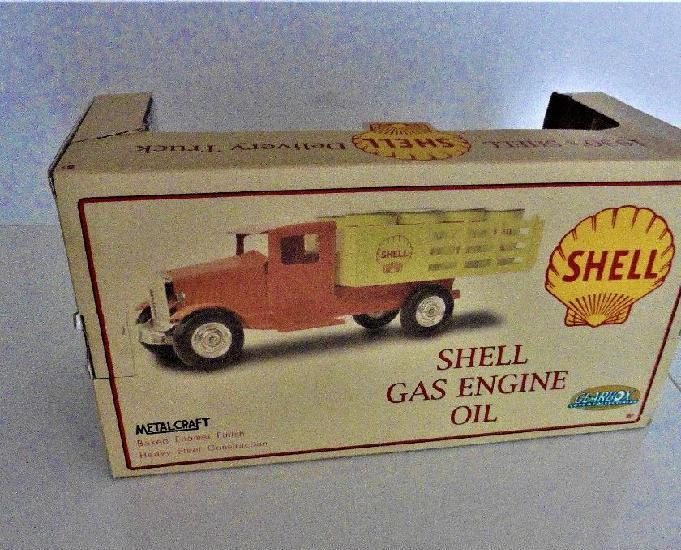 camion de livraison en tôle 1930's shell delivery truck