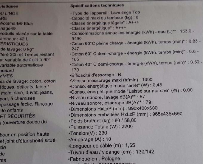 electrolux 6kg a+++ garantie