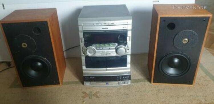 Chaine hifi philips cd cassette et graveur cd enceintes mon