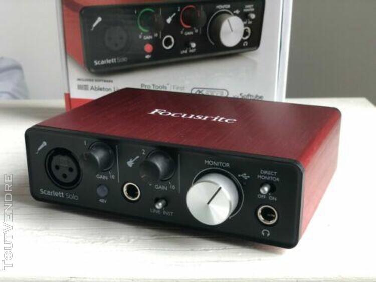 focusrite scarlett solo 2nd génération audio interface usb